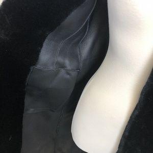 Zara Jackets & Coats - Zara Black Long Winter Teddy Coat Black Size Mediu
